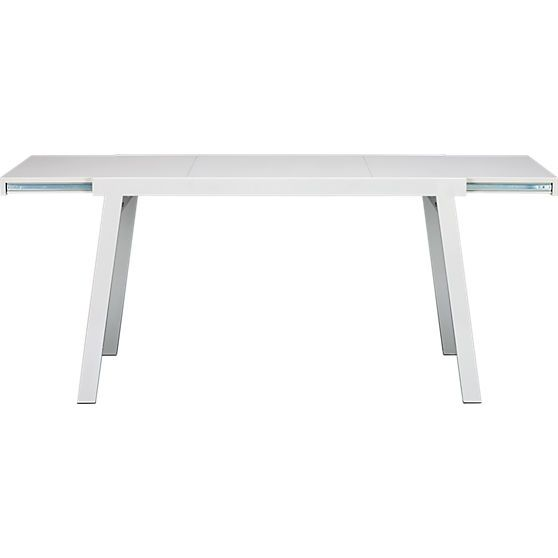 Pocket White Extension Dining Table In Tables Cb2
