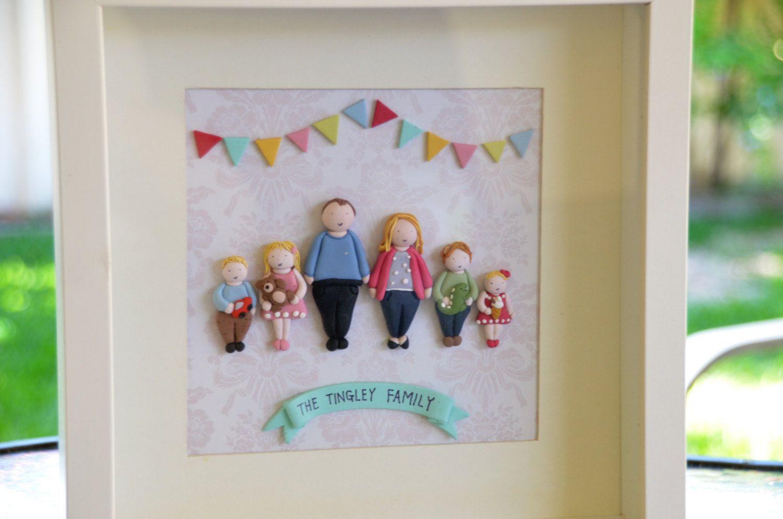 3D Custom Family Portrait in frame