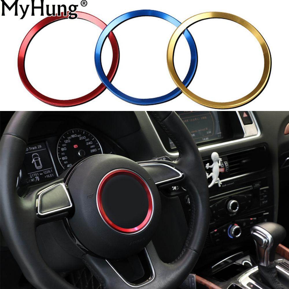 For Audi A3 A4l Q3 Q5 A5 A6l Car Steering Wheel Decorative Circle