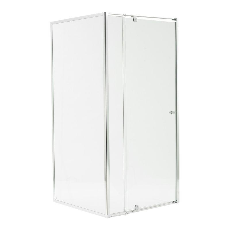 Estilo 1830 X 840 900 X 870mm Chrome Framed Glass Shower