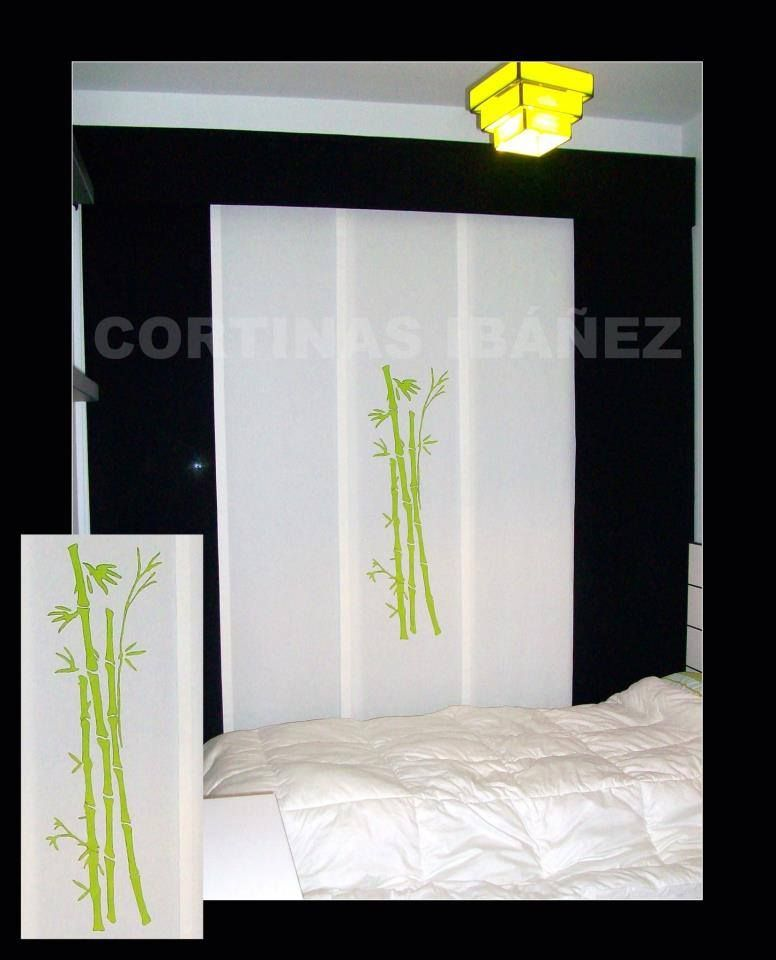 Japones de 5 vias con gotera , paneles de loneta de colores y panel central pintado a mano por nosotros mismos .En cortinas Ibáñez disponemos de miles de tejidos que se pueden adaptar a sus necesidades. En CORTINAS IBÁÑEZ tenemos siempre muy presente sus ideas y le aconsejamos para que el resultado final sea siempre de su completa satisfacción. https://www.facebook.com/pages/Cortinajes-Ibañez/285146811496396