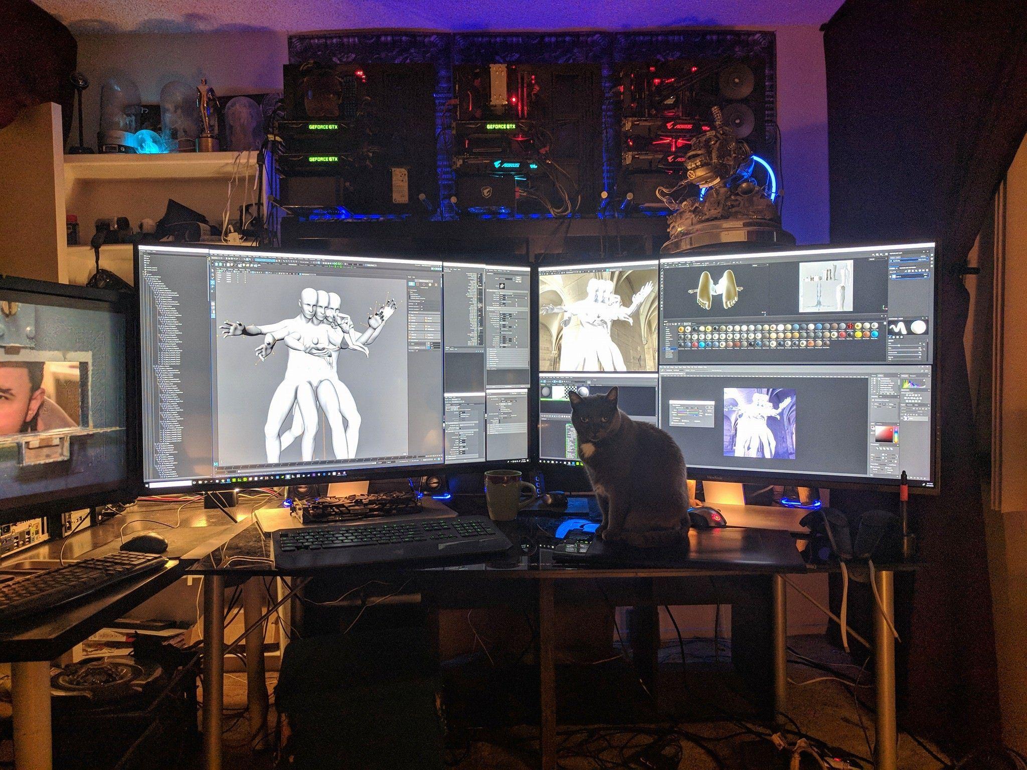 Battlestation of a 3D CG artist battlestations in 2020