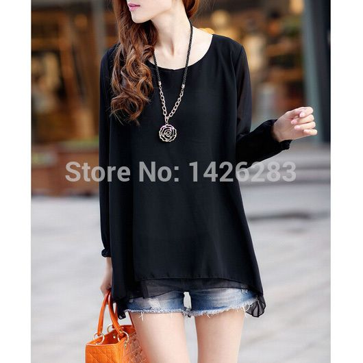 Spring Clothing Fashion 4 Colors Solid Blusa Com Tule Ladies Blouses Long Sleeve Shirt Women Tops Chiffon Blouse 2015-in Blouses & Shirts from Women's Clothing & Accessories on Aliexpress.com | Alibaba Group