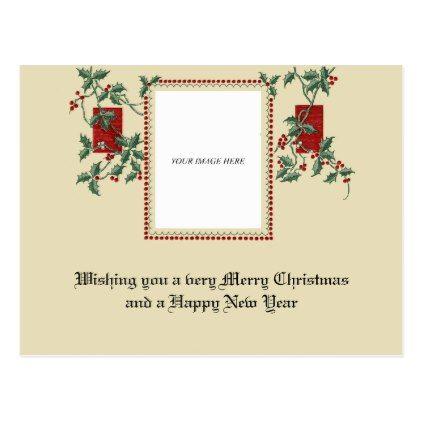 Vintage Victorian Christmas Custom Frame Template Zazzle Com Holiday Design Card Postcard Christmas Cards Victorian Christmas