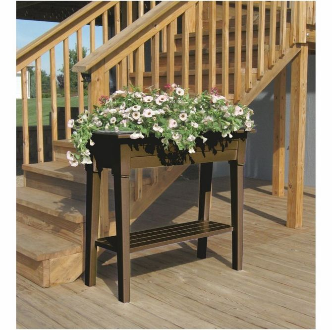 Raised Planter Boxes On Legs Google Search Wooden Projects