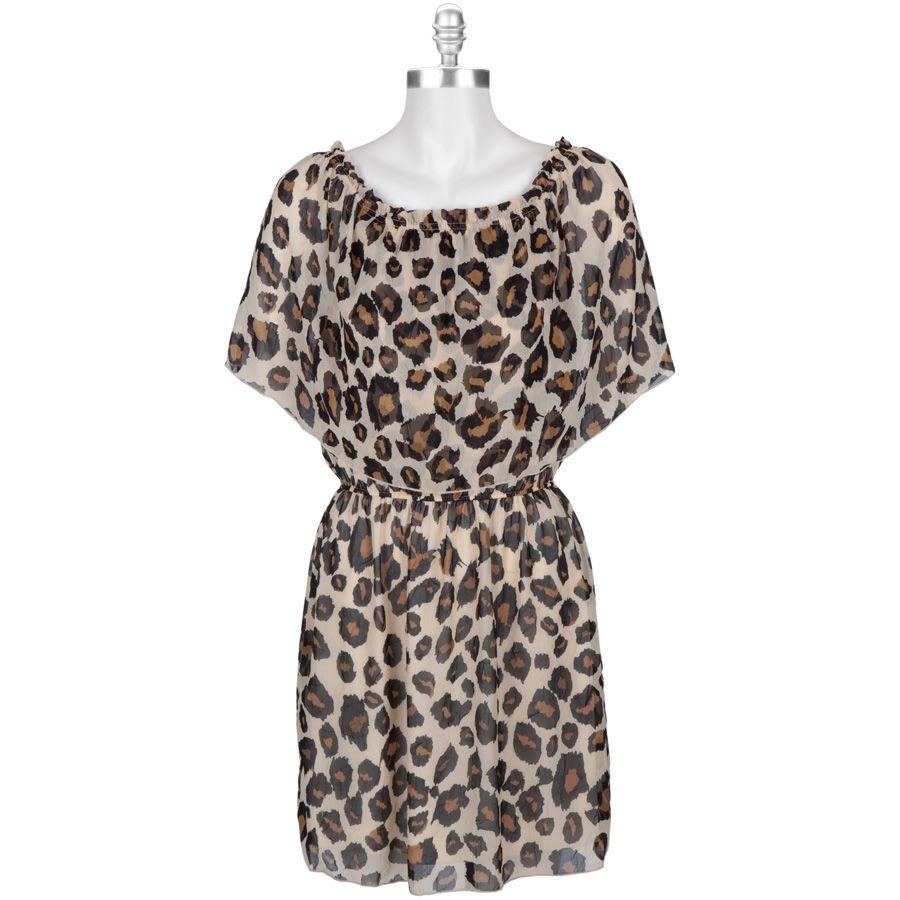 Velvet Torch Juniors Leopard Print Chiffon Dress Into My Closet Tshirt Women Blue Black Navy M