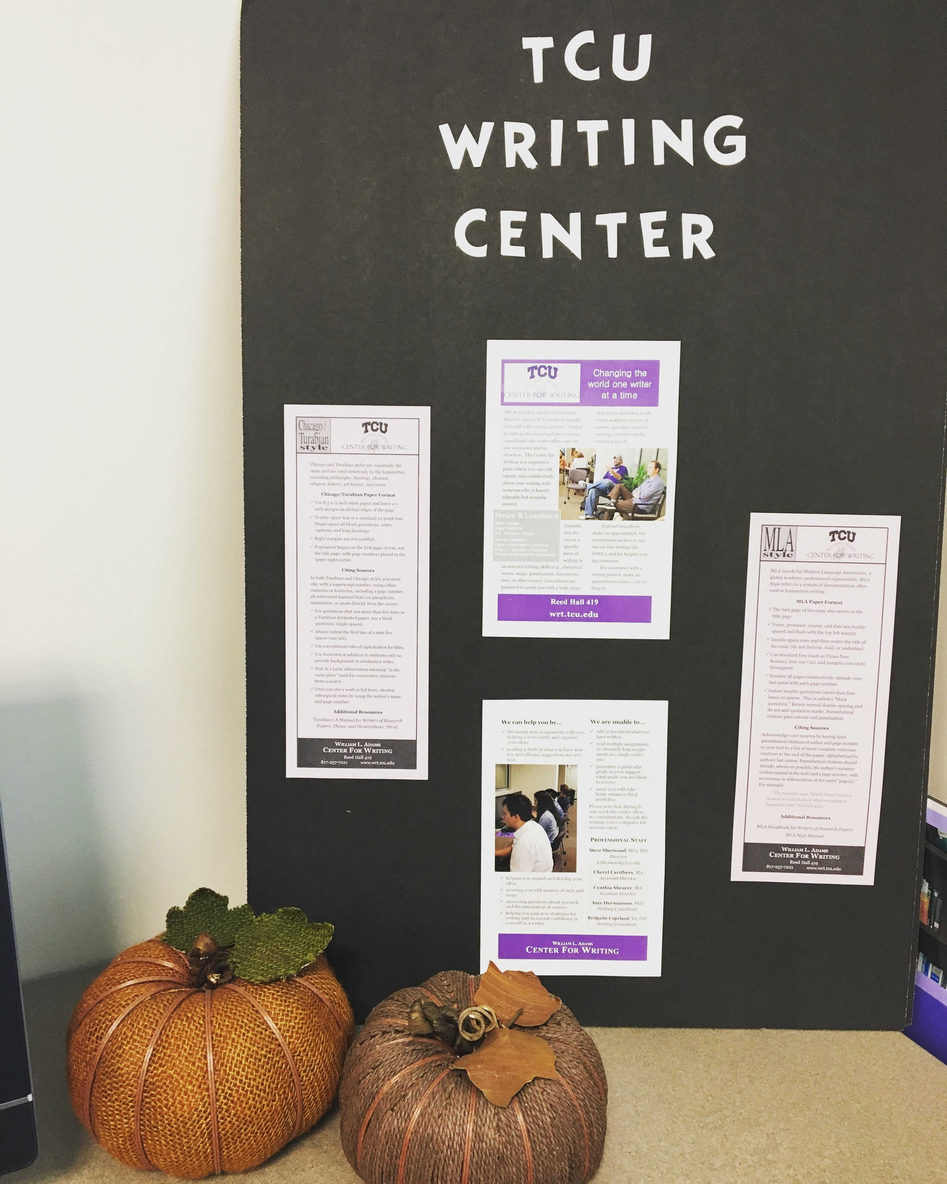 Happy early fall break, students! Our main center's