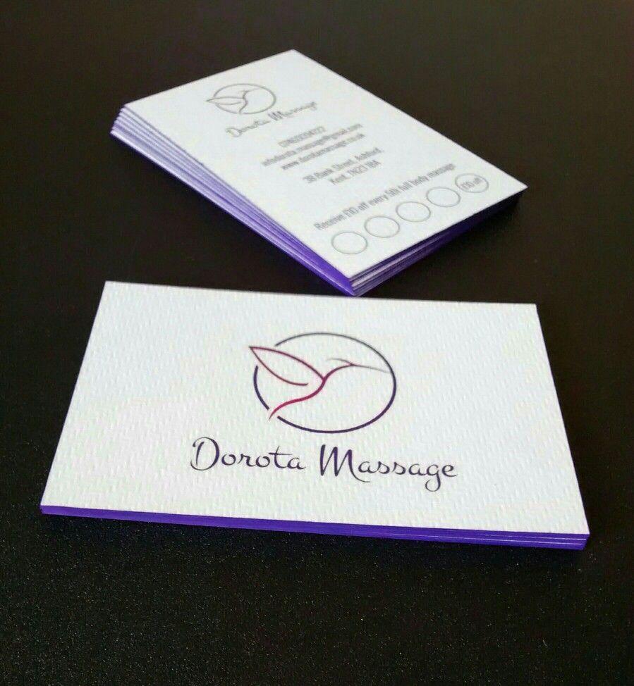 Business card design for a massage therapist Dorota
