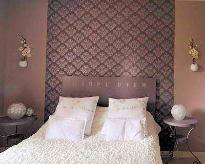 Chambre deco pinterest tapisserie chambre t te de lit papier peint et chambre parentale - Idee tapisserie chambre ...
