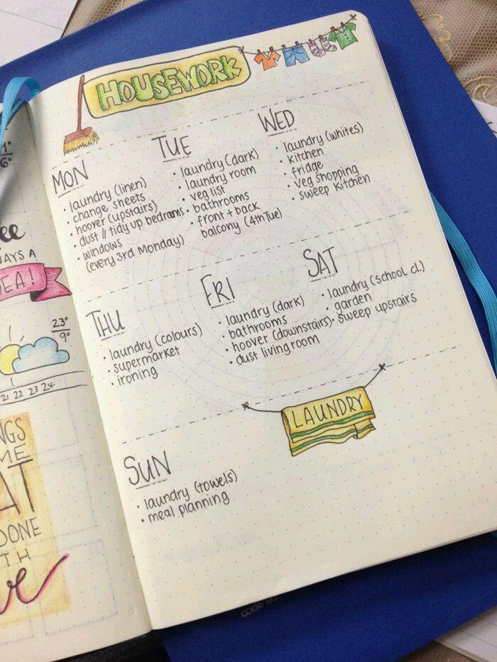 housework schedules
