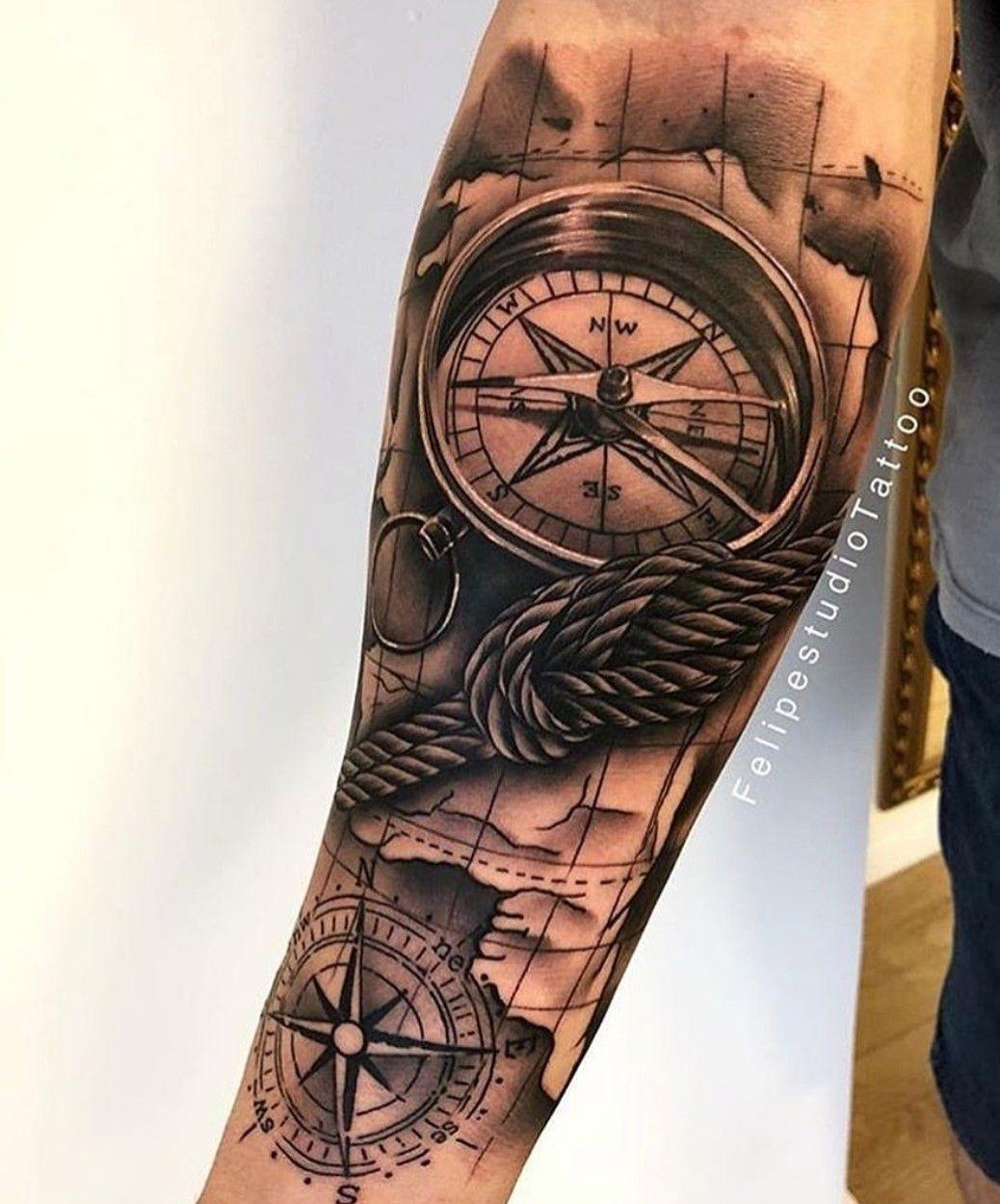 Tatuaje Brujula Tatuagem Masculina Tatuagem Masculina Braco