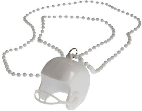 white bead necklaces with football helmets Case of 192
