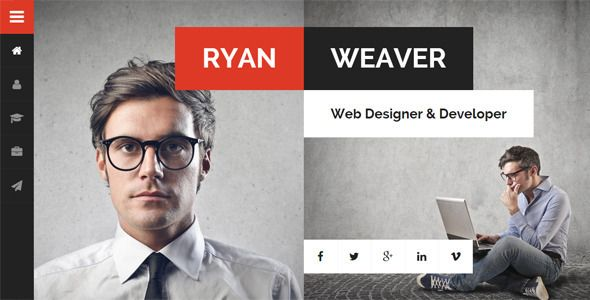 Divergent - Personal Vcard Resume WordPress Theme Divergent - wordpress resume template