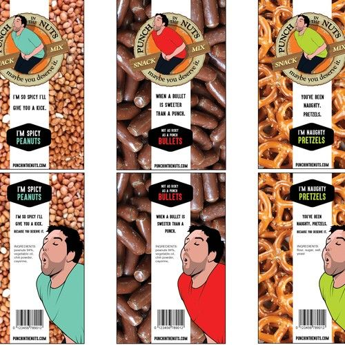 Designs   Create Upscale Product Label for Funny High-End Snack Mix   Product label contest