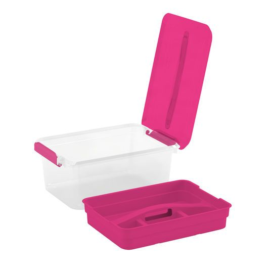 Latchmate Pink Storage Box with Tray By Recollections Pinterest