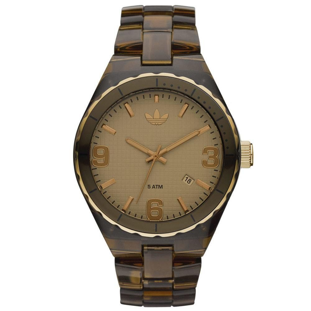 63fb1f90a97 Adidas ADH2559 Unisex Sports Brown Dial Brown Resin Strap Quartz Watch