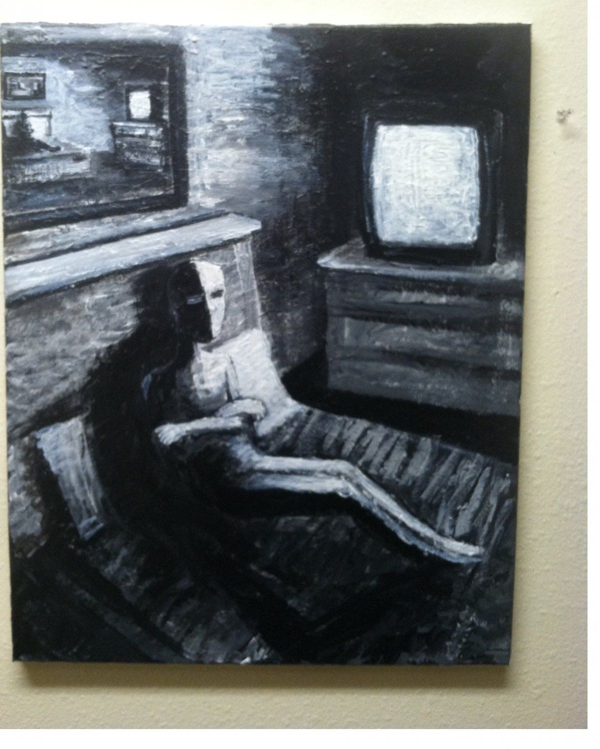"""COMFORT ZONED"" 16""/20"" acrylic on canvas"
