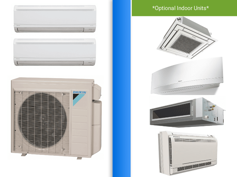 Daikin 2x18000 Btu In Minisplitwarehouse Com With The Best Prices Guaranteed Together With Our Desire Heat Pump Heat Pump Air Conditioner Air Conditioner Units