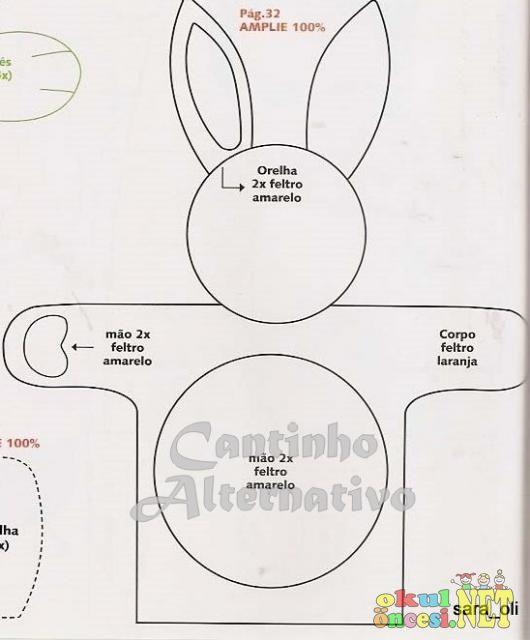 El Kuklası Tavşan (kalıplı) - Okul Öncesi NET / Okul Öncesi Forum Sitesi