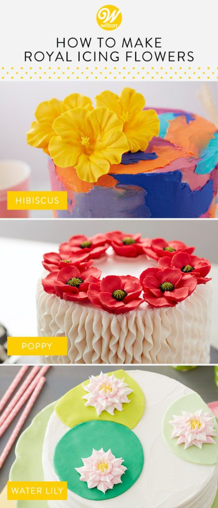 How to Make Easy Royal Icing Flowers #easyroyalicingrecipe