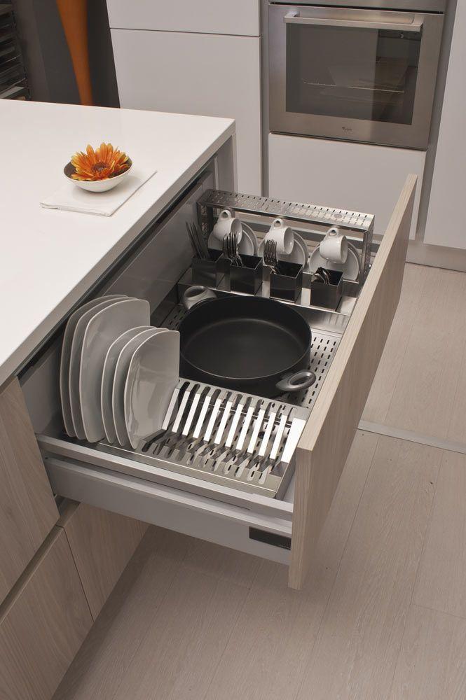 Risultati immagini per mettere scolapiatti in cassetto organiza o pinterest cozinha - In cucina con pippo de agostini ...