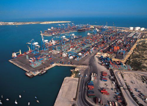 This Is The Malta Freeport, This Is The Ninth Largest Container Port In Europe