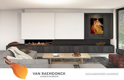 Fonkelnieuw Lange gashaard met schuifwand - Van Raemdonck - Haard & Interieur PX-04