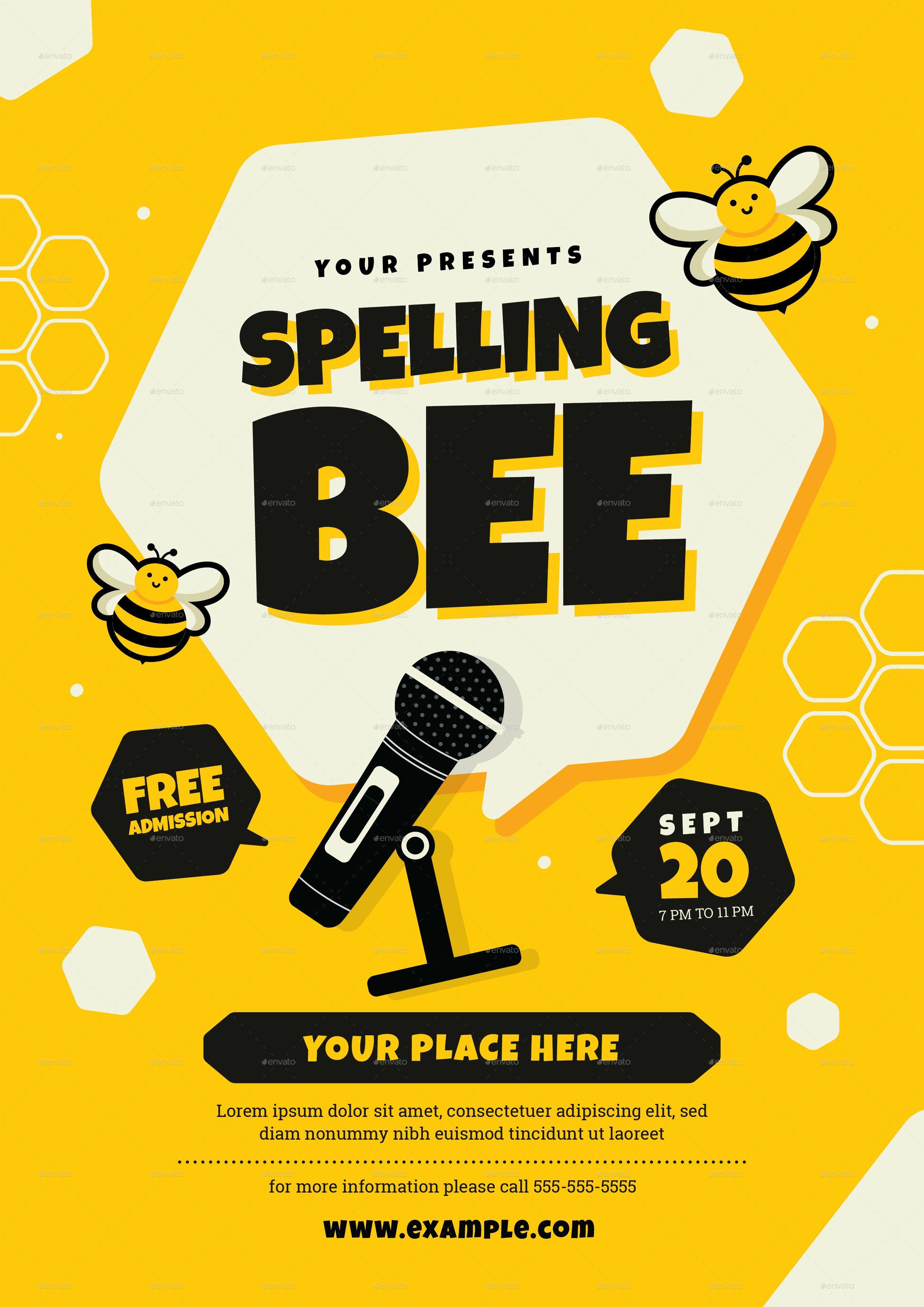 Spelling Bee Contest Flyer Template Spelling Bee