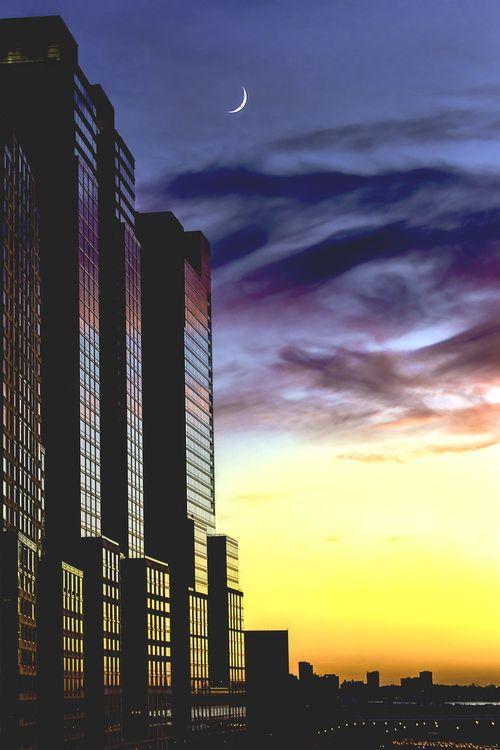 hudson sunset (by Ronald Diel)
