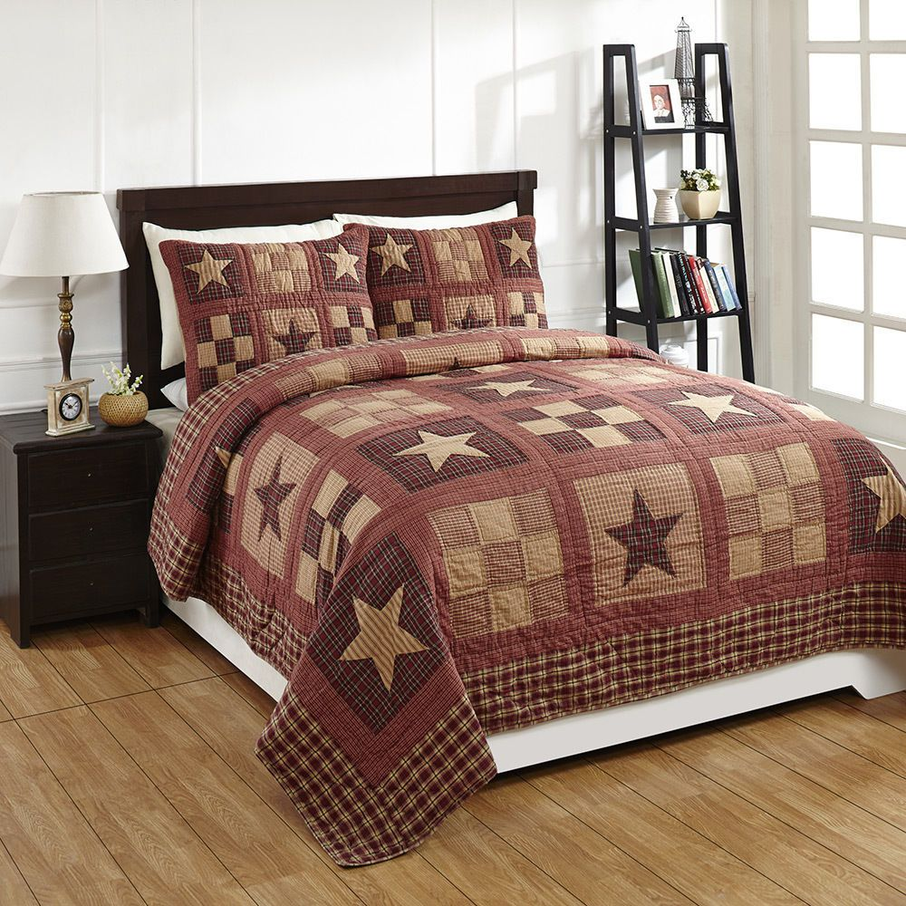 quilted quilt set shams stratton brands main applique sets star pc queen pillow products vhc