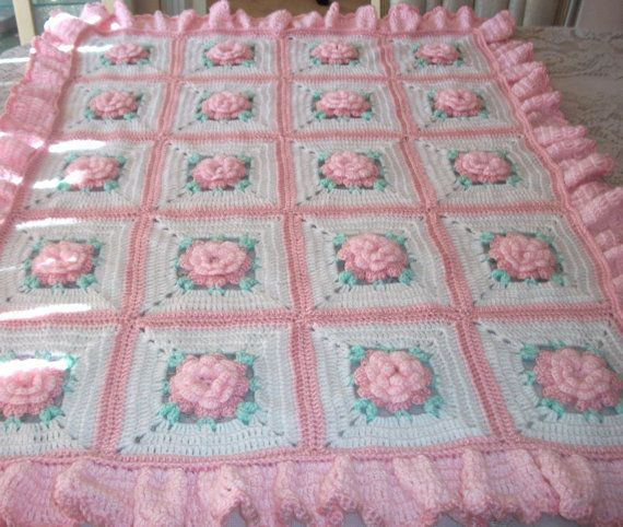 Baby Blanket Baby Girl Coming Home Outfit Crochet Baby Afghan Coming Home Layette Baby Girl Baby Shower Gift