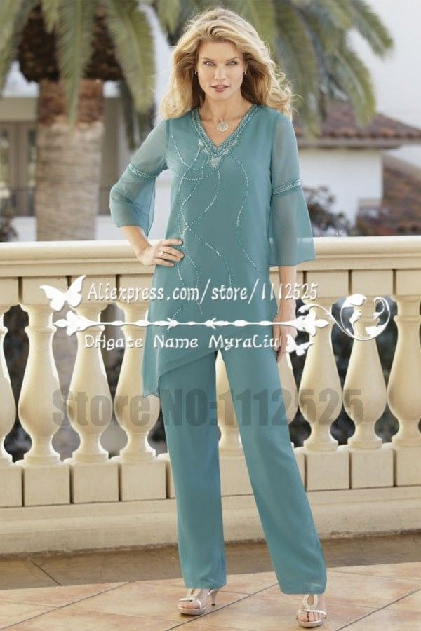 AMP1141 Chiffon two piece outfit for mother of the bride pant ...