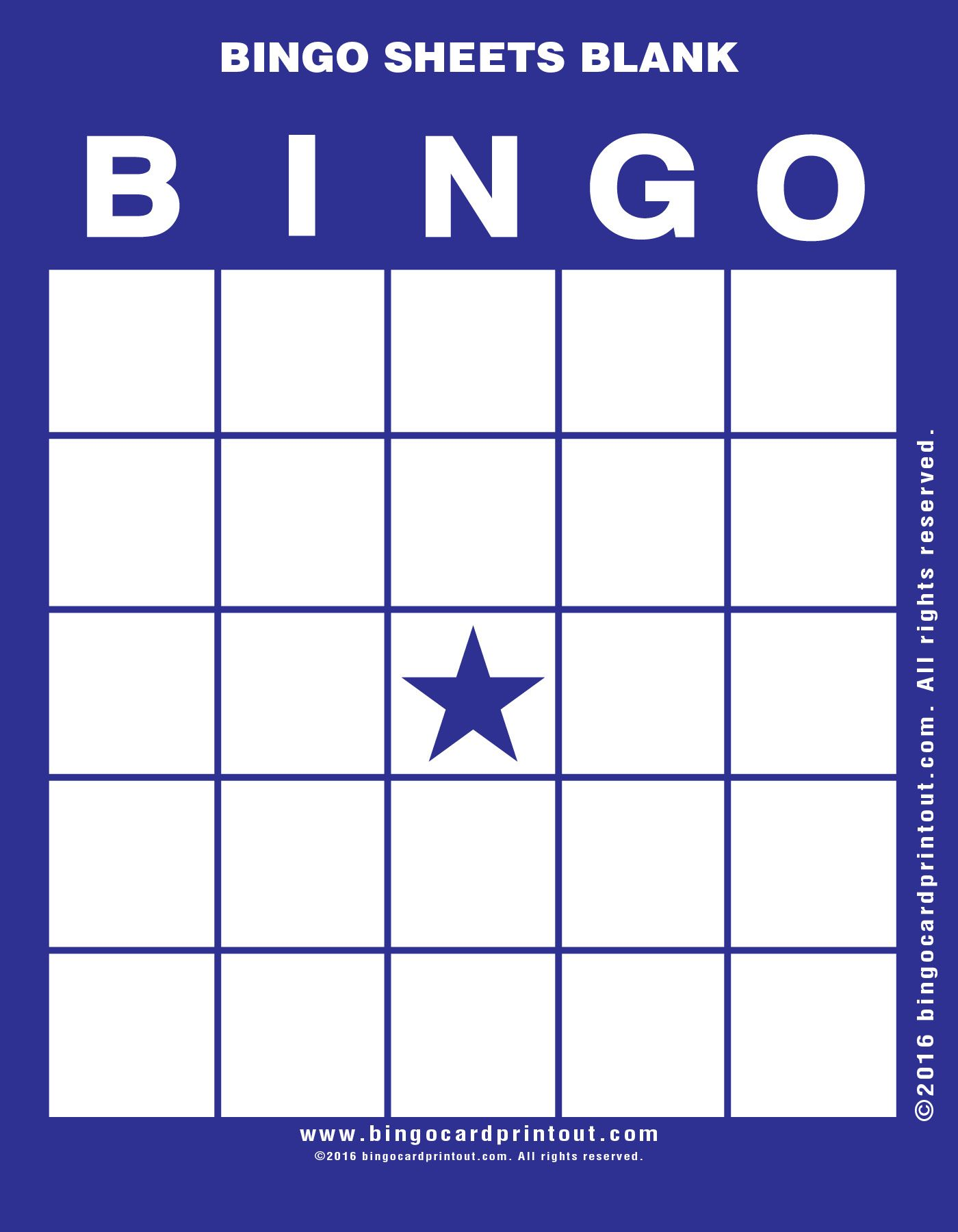 Bingo Sheets Blank 6 Bingo Sheets Blank Pinterest Bingo Sheets