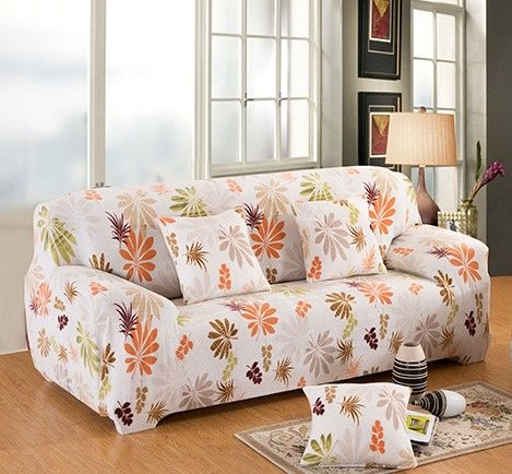 Flower Printed Elastic Sofa Cover Slipcover Corner Set Couch All Inclusive 1 2 3 4 Seats Single Two Three Four Seater