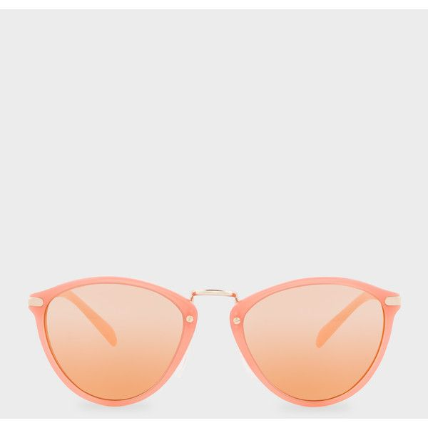 b215c84dfb Paul Smith Semi-Matte Coral And Gold  Hawley  Mirrored Sunglasses ( 275) ❤  liked on Polyvore featuring accessories