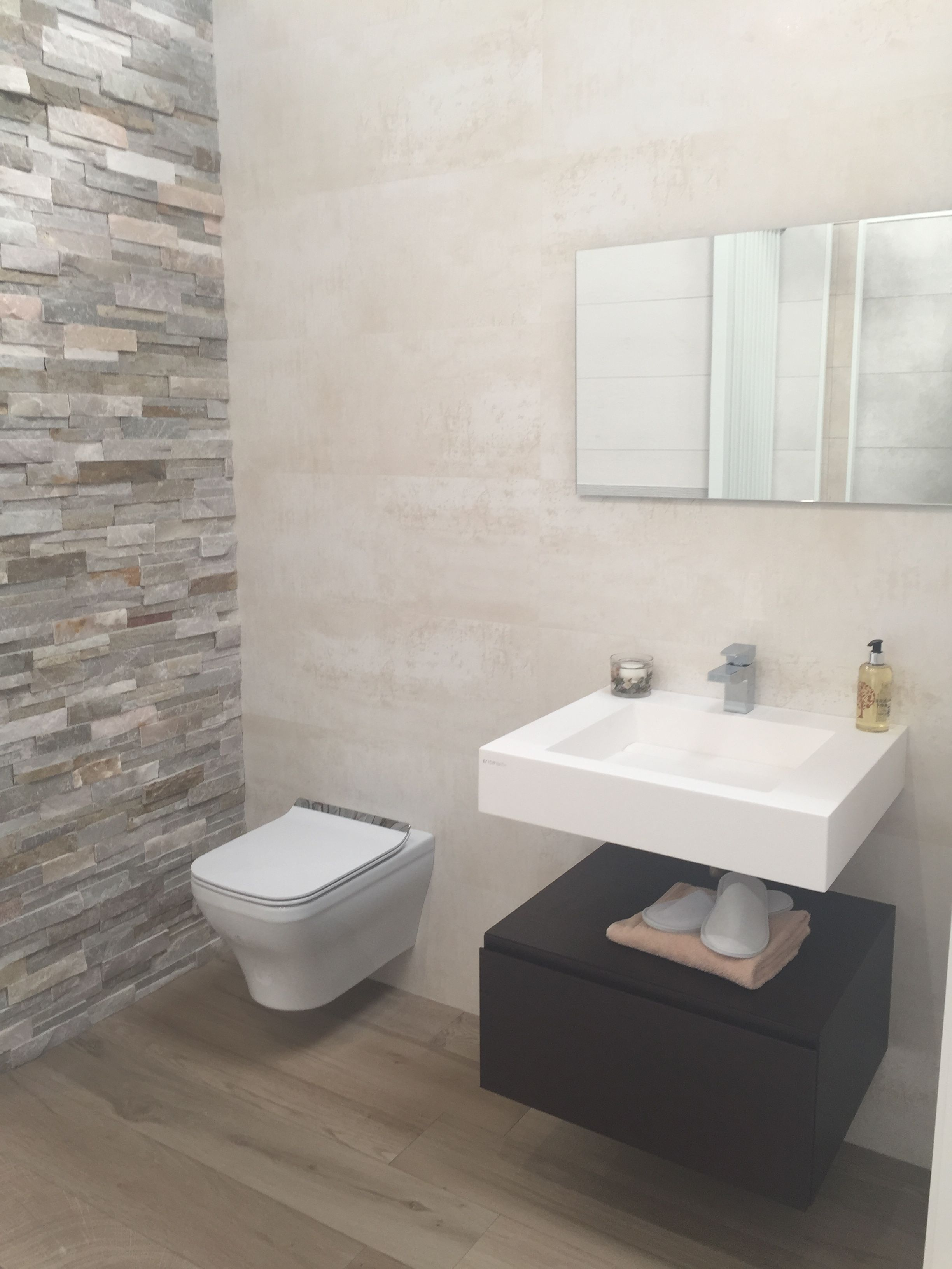 Split face, slate, stone tile Feature wall and bathroom tiles by ...