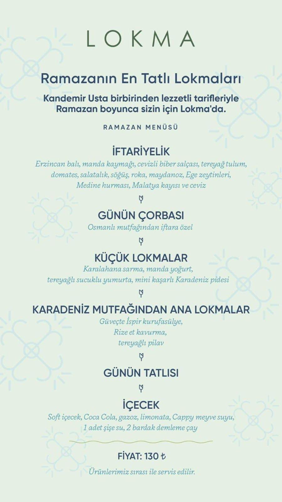 Lokma Rumeli Hisari Ramazan 2019 Iftar Menuleri Ve Fiyatlari Iftar Menusu Iftar Tabagi Serpme Iftariyelikler Corba Gunun Corbasi Iftar Ramazan Mesrubat