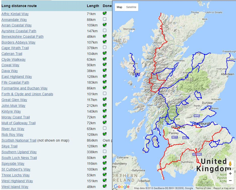 The Official Walkhighlands Guide To Long Distance Walking Routes In - Map your walking route