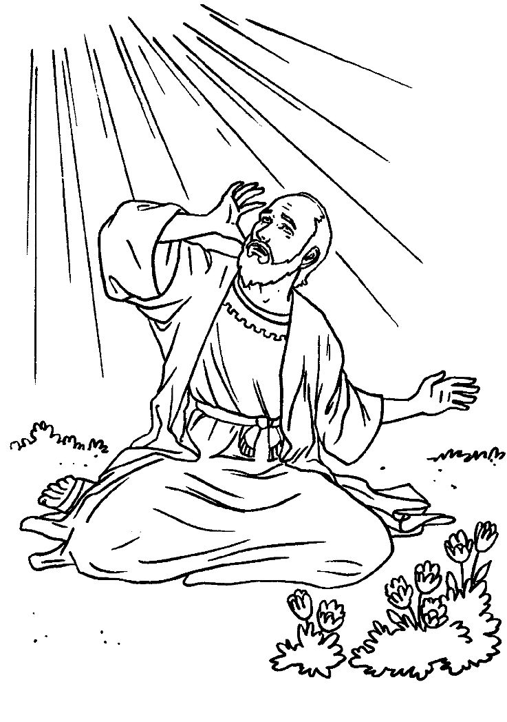 Paul On Damascus Road Coloring Page Blinded Bible School Sunday Pinterest