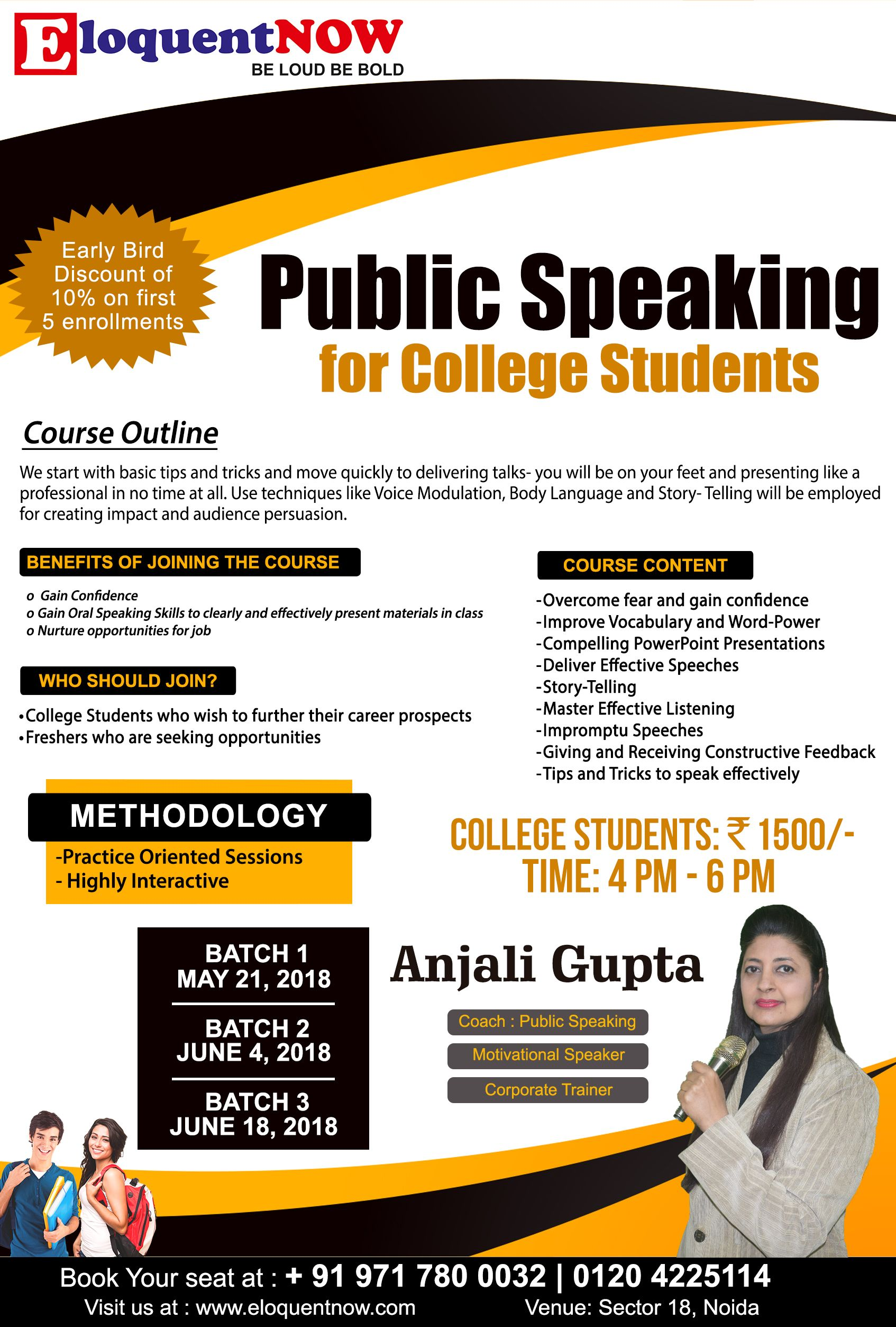 Public Speaking For College Students Early Bird Discount Of 10 On First 5 Enrollments Benefits Of Public Speaking Public Speaking Tips Speaking Skills