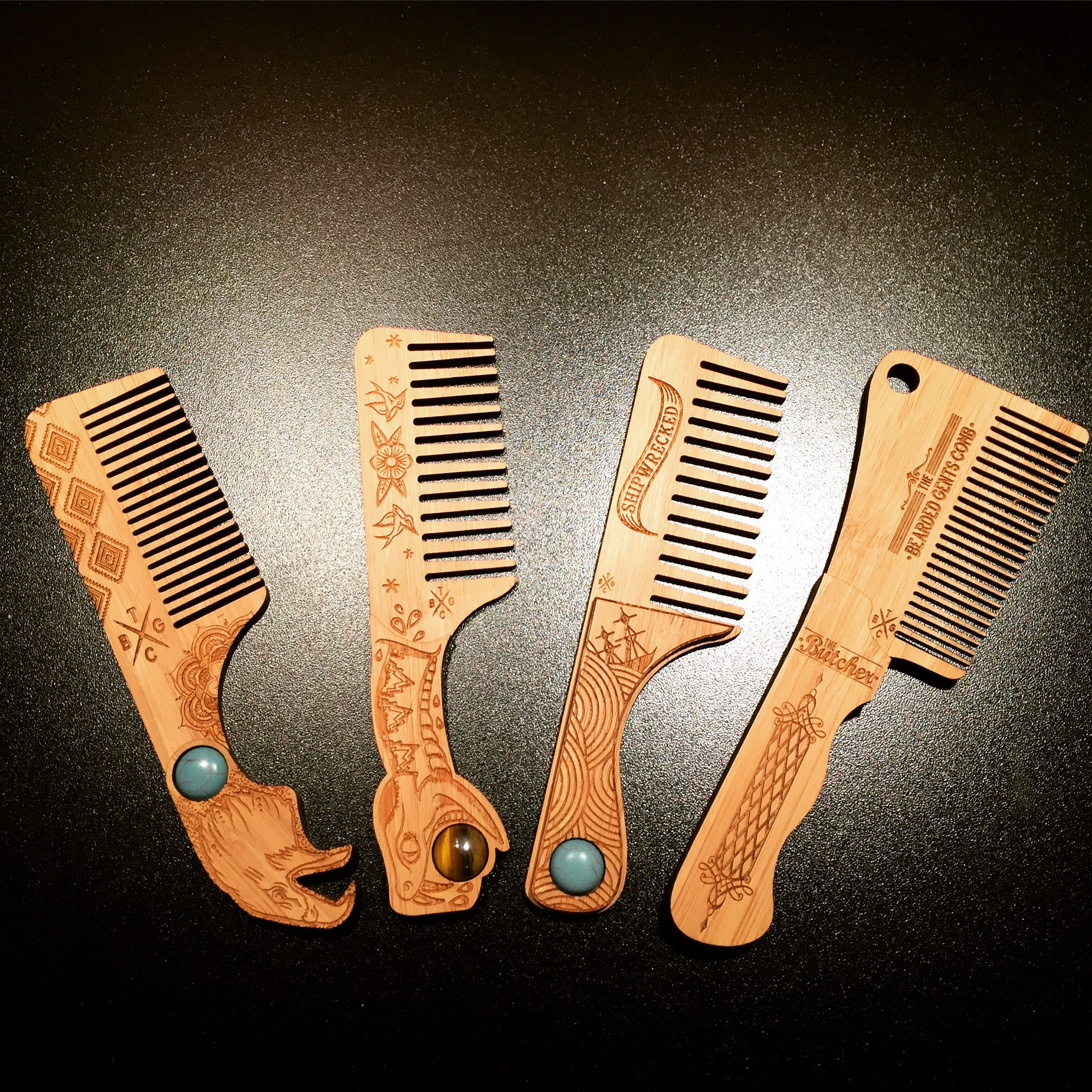 Pin by luis on Combs & Brushes | Wood comb, Beard styles