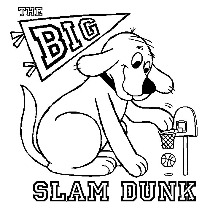 Its Easy For Clifford To Slam Dunk When Hes Bigger Than The Basketball Hoop Keywords Red DogPrintable Coloring SheetsBasketball