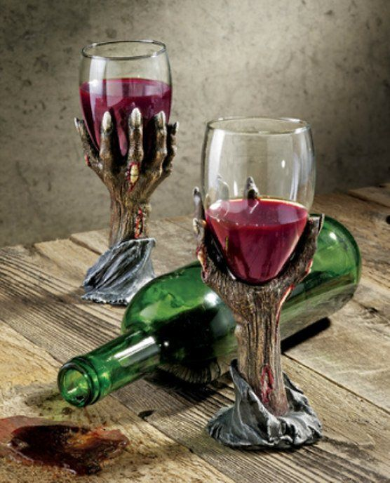 Zombie Dead Mans Hand Wine Goblets Glassware Halloween Products - zombie halloween decorations