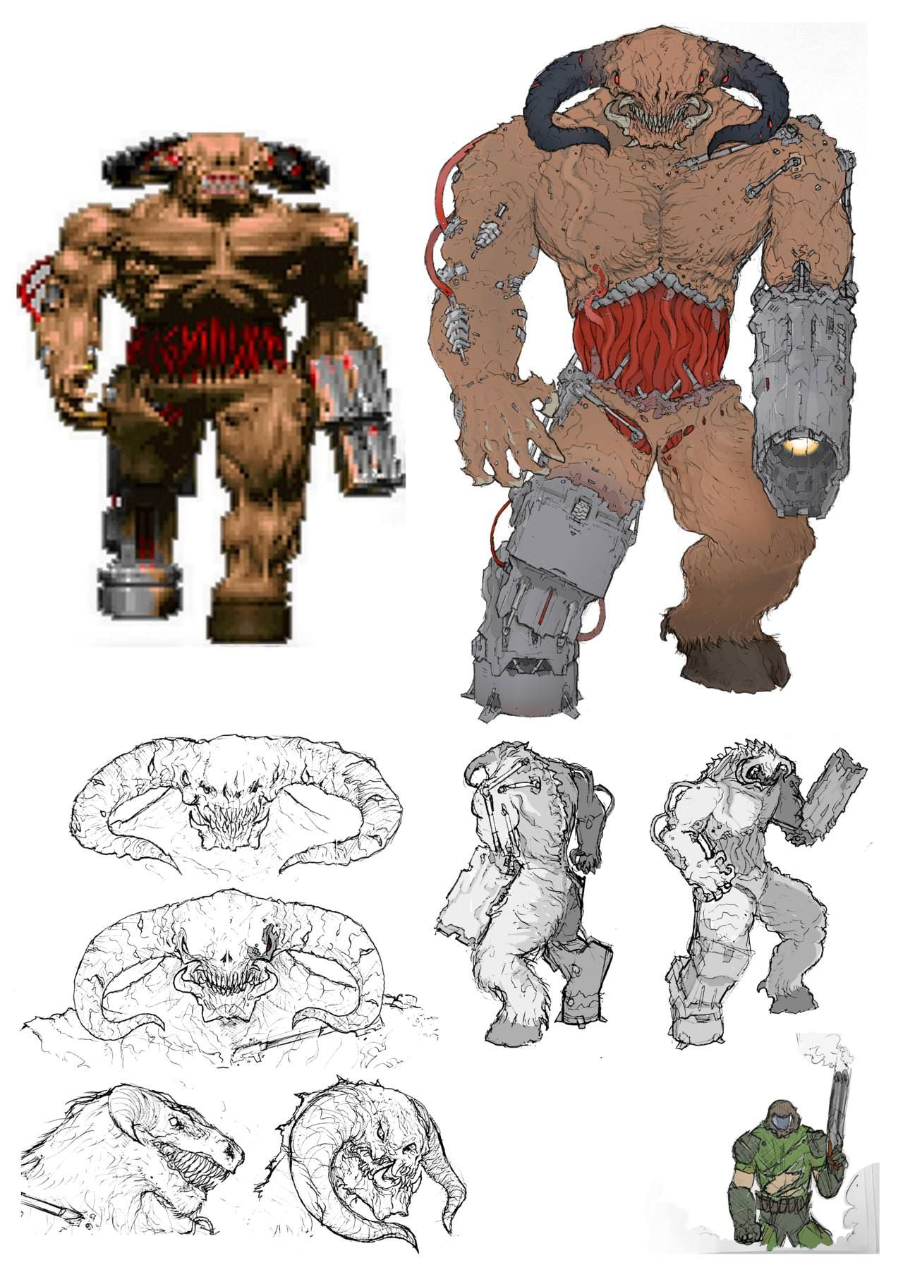 Fan Concept Art Doom Eternal Redesign Cyberdemon Doom