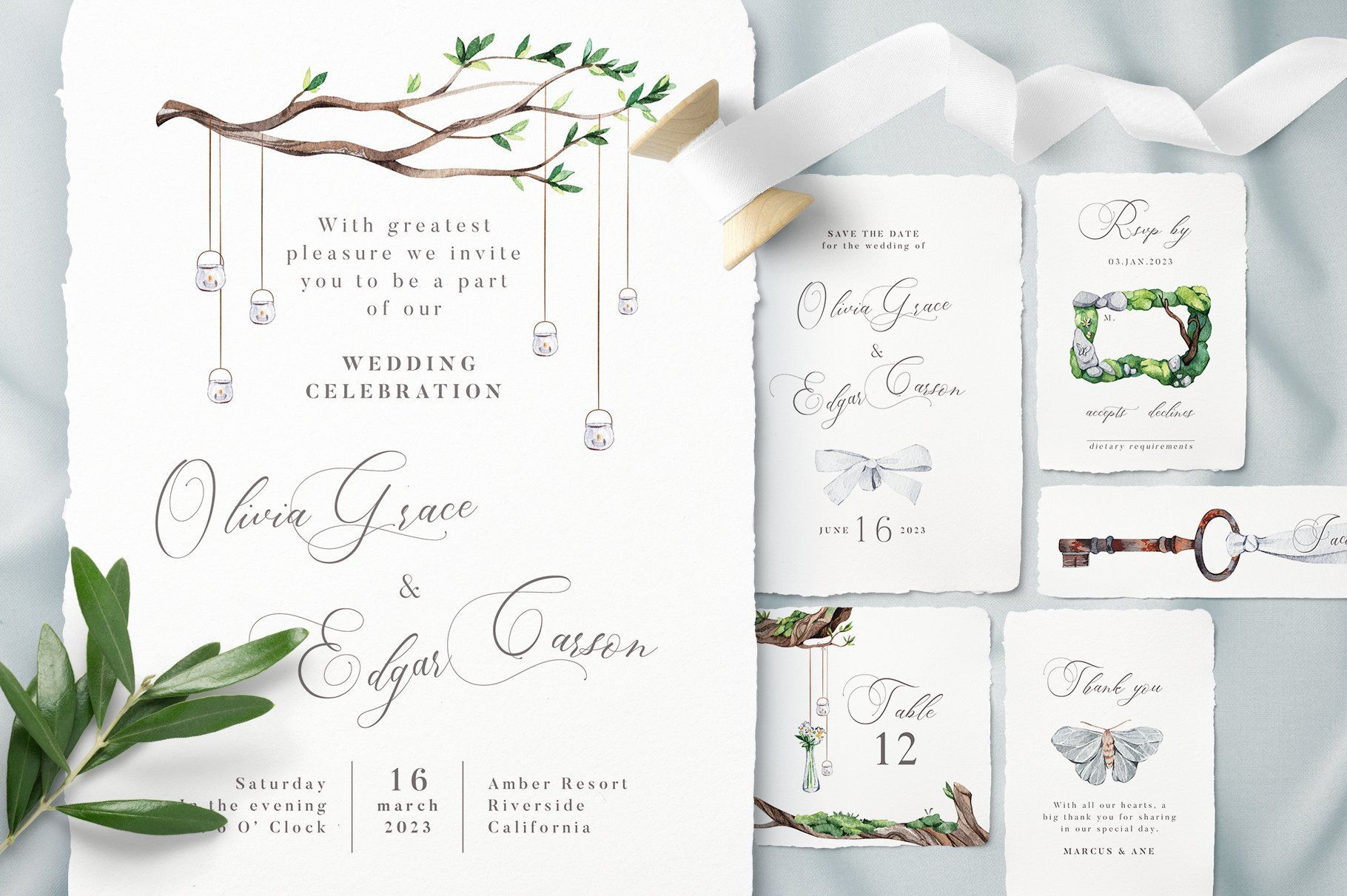 White Forest Wedding Invitations In 2020 Forest Wedding Invitations Wedding Invitations Menu Card Template