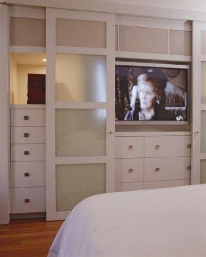 Great Way To Hide The Tv Bedroom Wall Units Build A Closet Bedroom Design