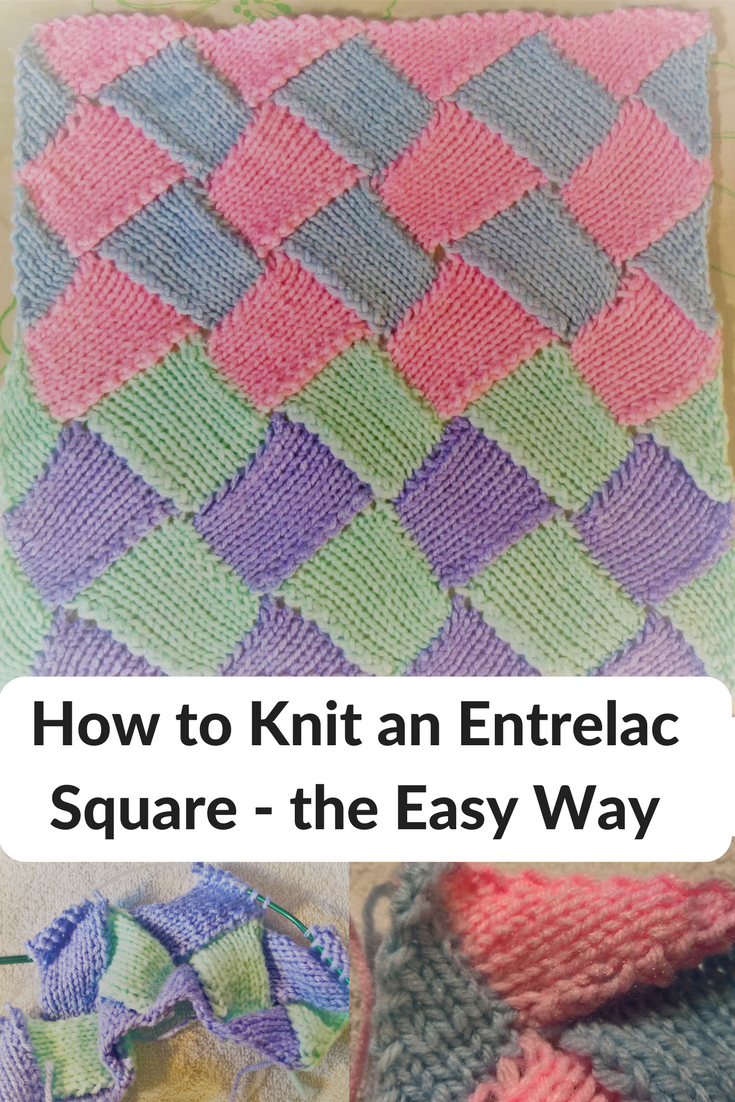 How to Knit an Entrelac Square - the Easy Way | Pinterest