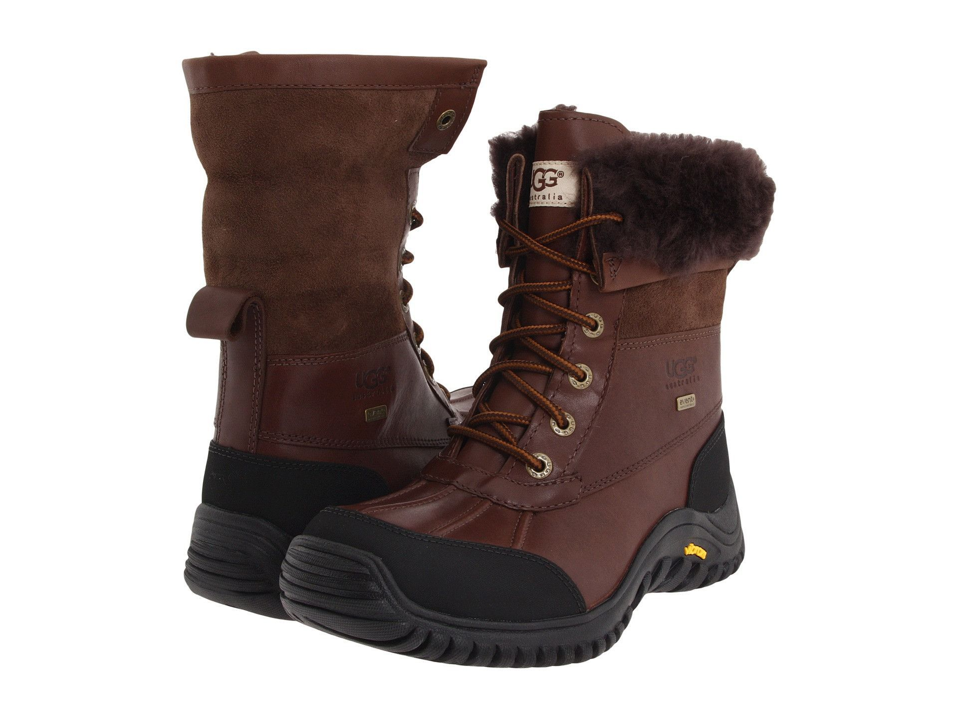 W Ugg - Adirondack Boot II The Adirondack II is a premium cold weather boot.  The leather and sheepskin upper combine to provide you with protection  while ...