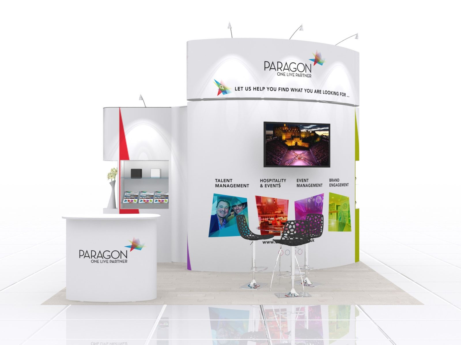 Small Exhibition Stand Mockup : Modular exhibition stand design for paragon marketing pinterest