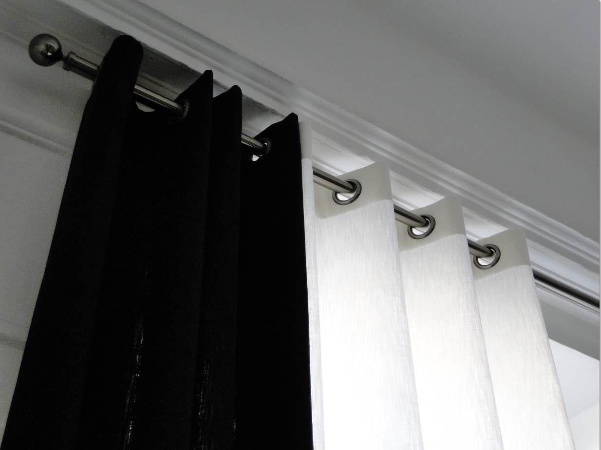 rideaux noir. Black Bedroom Furniture Sets. Home Design Ideas